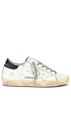 Superstar Sneaker Golden Goose NEW - Click to Shop #affiliatelink Sneakers Street Style, Casual Street Style, How To Wear Sweatpants, Balenciaga Sneakers, Latest Sneakers, Killer Heels, Golden Goose, Smooth Leather, Italian Leather