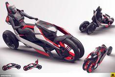 audi_nexus_15 Futuristic Motorcycle, Futuristic Cars, Bmw C1, Eletric Bike, Velo Design, Tricycle Bike, Bicycle Rims, Motorbike Design, Microcar