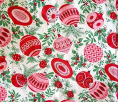 love vintage christmas textiles!!! Can't wait to add to my collection this year!