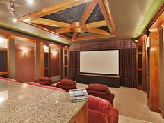 Home theaters setup See photos about Home Theater Designs From CEDIA 2014 Finalists from HGTV Home Theater Wiring, Home Theater Setup, Best Home Theater, Home Theater Speakers, Home Theater Rooms, Home Theater Design, Home Theater Projectors, Home Theater Seating, Cinema Room