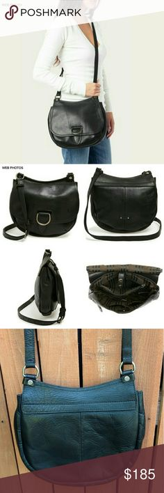 """FRYE Amy Leather Crossbody Bag Distressed silvertone hardware plays up the biker attitude of a richly distressed leather crossbody bag fashioned with impeccable Frye craftsmanship. - Adjustable crossbody strap - Foldover top with bridge-snap closure - Interior features 1 zip and 2 wall and smartphone pockets - Approx. 10.5"""" H x 10"""" W x 2.25"""" D - Approx. 19-23"""" strap drop Carried for appx 1 week.  EUC. Frye Bags Crossbody Bags"""