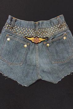 1f4096c1fd Oilfield Trash - Studded   Patched Vintage Shorts