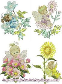 Sweet Free Embroidery: Cute Fairladys 02 Free Embroidery