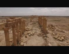 Images captured by drone shows part of the ancient city of Palmyra, recaptured by Syrian troops from the Islamic state Palmyra, Syria, Troops, Mount Rushmore, Islamic, Weapons, Chill, Mountains, Travel