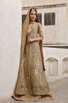 Pakistani couture Rema & Shehrbano's bridal collection featuring model Alyzeh Gabol