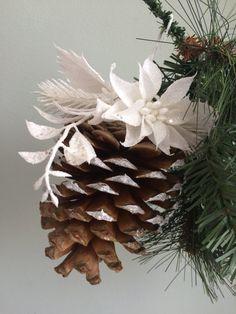 Unique pinecone ornament festive Christmas ornament