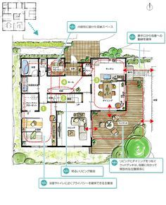 1F After Japanese Architecture, Architecture Plan, Craftsman Floor Plans, Small Floor Plans, House Layouts, Modern Interior Design, My Dream Home, Woodworking Plans, Interior Inspiration