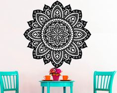 Wall Decals Mandala Indian Pattern Yoga Oum Om Sign by CozyDecal