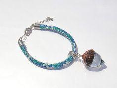 Annys workshop手作押花飾品,橡果子手鍊, Handmade bracelet