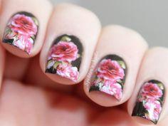 Roses- #roses #pink #nailart #manicure #nails