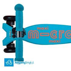 Nowość! Hulajnoga Maxi Micro Deluxe w kolorze Caribbean Blue to stabilna trzykołowa hulajnoga na której dziecko poprzez balansowanie ciałem w sprytny sposób skręca przednie koła. Idealna jako następczyni hulajnogi Mini Micro albo jako pierwsza hulajnoga dla AktywnegoSmyka. Maxi Micro Deluxe to nowa wersja hulajnogi Maxi Micro charakteryzująca się unikatowym podestem podwyższoną wytrzymałością (do 70 kg) odblaskowymi naklejkami i metalicznym/anodowanym drążkiem. Producent proponuje hulajnogę…