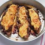 Julia's Batter-Coated Fried Eggplant with Honey, Mint, and Sesame Seeds Recipe | SAVEUR