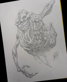 Awesome #Slimer pencil artwork by Kyle Hotz https://instagram.com/p/BIgAWdqDe54 #Ghostbusters