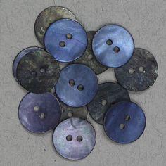 Perlemor blå 15mm - Perlemor - Knapper