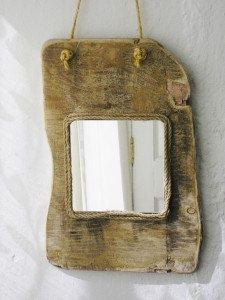 Irish driftwood mirror, handmade driftwood mirror from Ireland, driftwood decor, driftwood furnishings