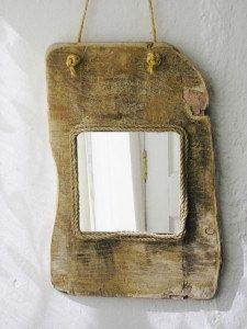 Irish driftwood mirror, handmade driftwood mirror from Ireland, driftwood decor, driftwood furnishings