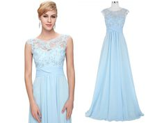Modré společenské šaty jemně zdobené, SKLADEM - Bestmoda