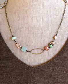 Sophia. romantic glass beaded gemstone shabby by tiedupmemories, $28.00