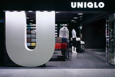 Uniqlo Osaka . . Amazing typography application