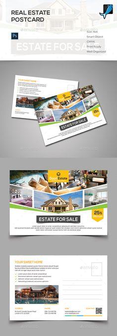 Real Estate Postcard Template PSD. Download here: http://graphicriver.net/item/real-estate-postcard/15022557?ref=ksioks
