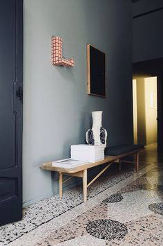 Perfect Darkness Apartment Installation By Elisa Ossino And Josephine Akvama Hoffmeyer Milan Design Week 2019 Yellowtrace 12 Tile Covers, Red Tiles, Terrazzo Flooring, Milan Design, Wall And Floor Tiles, Living Room With Fireplace, Living Rooms, Apartment Interior, Architectural Elements