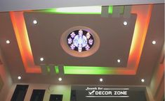 false ceiling designs with colorful lighting system