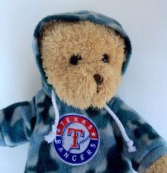 Pre-Owned Texas Rangers MLB Teddy Bear Plush with Camo Hoodie | Sports Mem, Cards & Fan Shop, Fan Apparel & Souvenirs, Baseball-MLB | eBay!