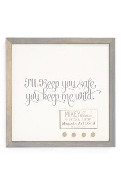 Mikeylin's 'I'll Keep You Safe' Small Magnet Board | Nordstrom