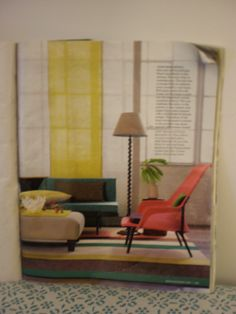 Inspiration for the squiggle guest room. A photograph in a Martha Stewart magazine. House Art, Martha Stewart, Floor Chair, Guest Room, Photograph, Flooring, Magazine, Inspiration, Furniture