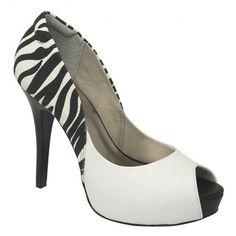 Peep Toe com estampa de zebra Vivaice 42-92104   Loja Vivi Tonin Online www.vivitonin.com.br