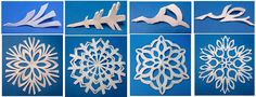 Snowflake Designs and how to cut them out.