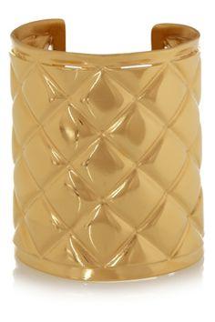 Balmain|Gold-plated cuff|NET-A-PORTER.COM