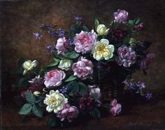 The Joy of the Rose (oil on canvas) Wall Art & Canvas Prints by Albert Williams
