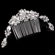 Wedding Fine Head Jewelry Super Shiny Fashion Crystal Rhinestone Flower Hair Comb For Women Head Jewelry, Jewelry Sets, Flowers In Hair, Flower Hair, Hair Comb, Crystal Rhinestone, Pattern, Wedding, Number