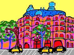 Ilustración La Pedrera de dia, Gaudí!!