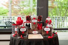 chocolate and red candy bar at a wedding» Judah Avenue  Washington DC, Maryland, Virginia wedding photography/ photographer