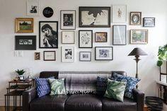 tiny apt gallery wall