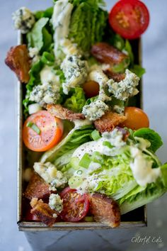 BLT Chop Chop Salad with Quick Paleo Ranch Dressing by Colorful Eats
