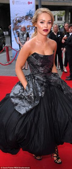 7c8543e83ae0e Gothic glamour: Katie Piper dared to be different in a voluminous prom  dress with jacquard