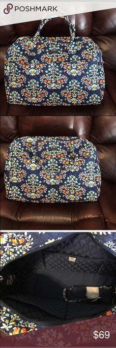 "NWT Vera Bradley chandelier floral weekender NWT Vera Bradley chandelier floral weekender. Dimensions 18 ½"" w x 12 ½"" h x 7 ½"" d with 6 ½"" strap drop; 48 ½"" removable, adjustable strap Vera Bradley Bags Travel Bags"