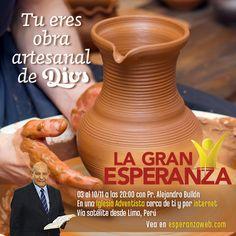 Tu eres la obra artesanal de Dios. Haga clic en la imagen y sepa más. #LaGranEsperanza