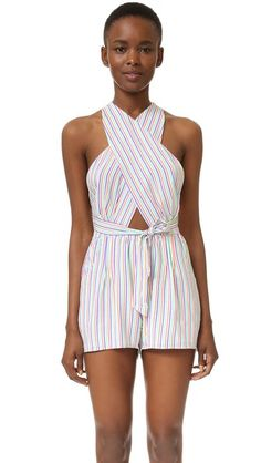 6 Shore Road by Pooja Cargo Wrap Romper | SHOPBOP