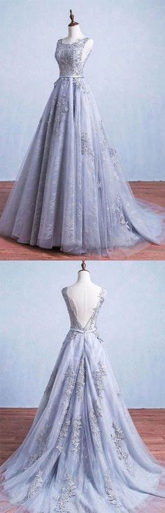 Backless Evening Dress,Applique Prom Dress,Fashion Prom Dress,Sexy Party