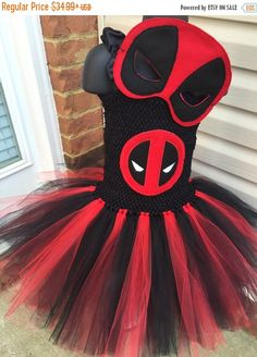 MaySale Inspired deadpool tutu/mask/halloween/costume/comic by CutEies on Etsy https://www.etsy.com/listing/247069765/maysale-inspired-deadpool
