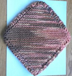 Desert Rising Knit Diagonal Dish or Wash cloth by AJoyfulCreation, $5.00