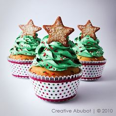 Christmas Tree cupcakes - Cute!