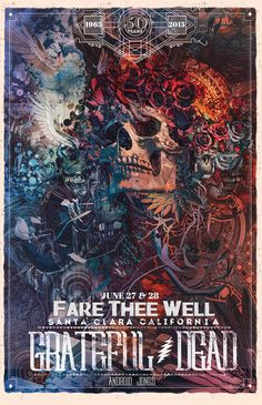Android Jones — Fare Thee Well Poster Santa Clara