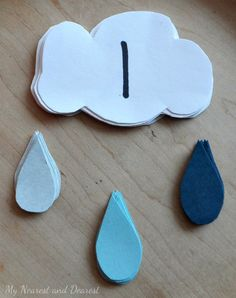 Rainy Day Math Game for preschoolers. Easy to make and fun to play.