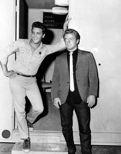 "With Red West during filming of ""Follow That Dream"" 1962"