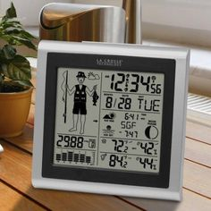 La Crosse Technology 308-1451 Wireless Forecast Station with Fisherman Icon, Multicolor